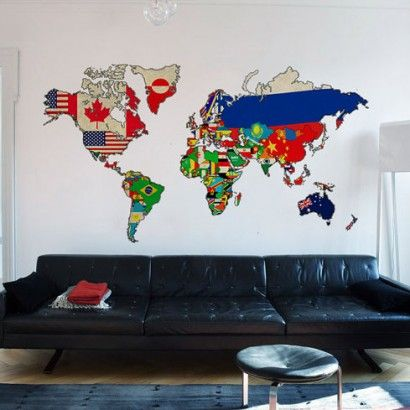 29 best WORLD MAPS images on Pinterest World maps, Vinyl wall - best of world map for wall mural