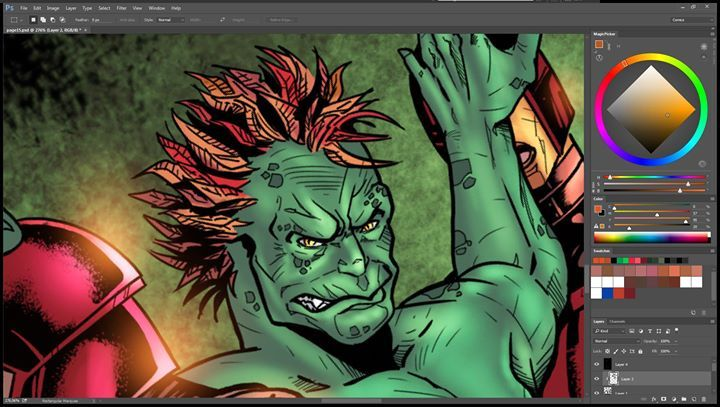 hey Everyone i'm almost finishing the project im doing for Wayward Raven Media called Horsemen issue 3. if your interested in the 2 other issues of Horsemen or any other title from them Check things out here: http://ift.tt/168FJQc  here is a wip of Horsemen issue 3 Written by Mark Frankel art by Pedro André Pimentão colored by Nimesh Morarji's Art.  Enjoy you week everyone  #comics #makecomics #indiecomics #horsemen #process