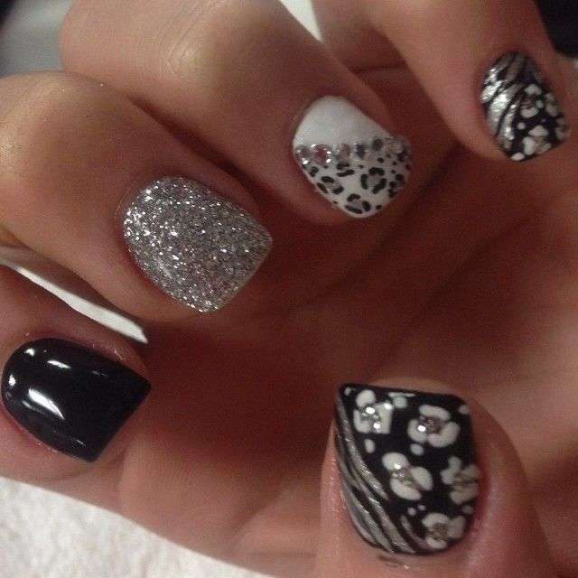 .@acrylicsbyamelia   Tammy Taylor color acrylic over natural nails... White acrylic at tip with ir...