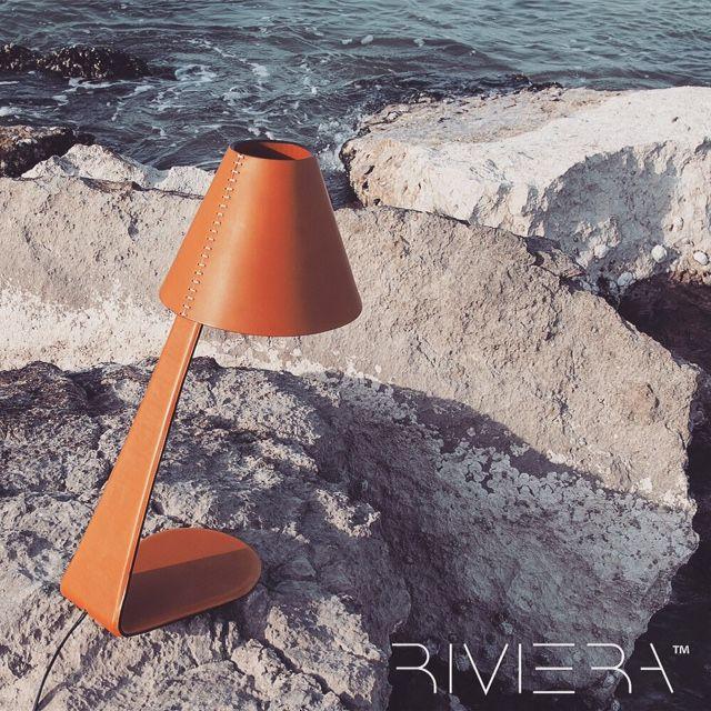 #riviera #studium #leather #lamp #tablelamp #table #luxury #unique #artisan #madeinitaly #italian #logicsun.net #rivieraluxe #luxe www.logicsun.net