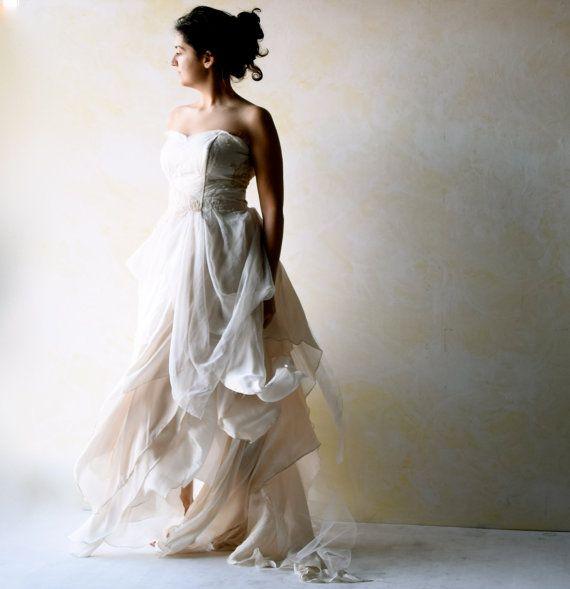 Boho Wedding Dress Bridal gown Alternative Wedding by LoreTree