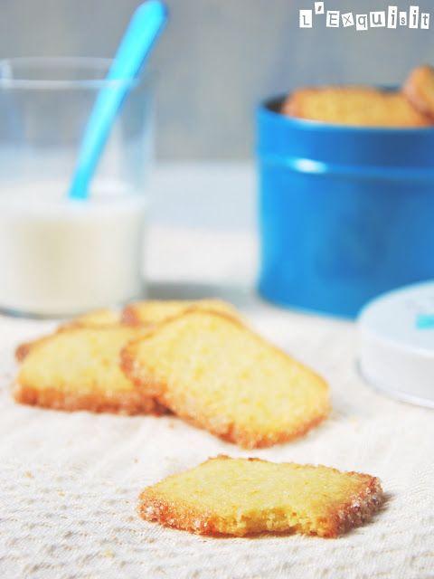 Galletas de naranja | L'Exquisit.  En el vaso triturador (*) poner la harina, el azúcar, la sal, la nuez moscada, la mantequilla, la ralladura y el huevo