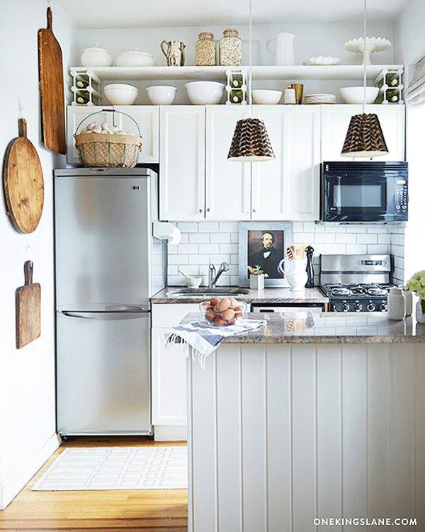 Ansprechende Deko Ideen Für Küchenschränke Oben #Küchenschrank Deko - schöne mülleimer für die küche
