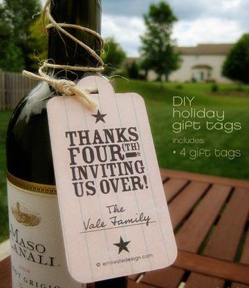 Free printable gift tags.