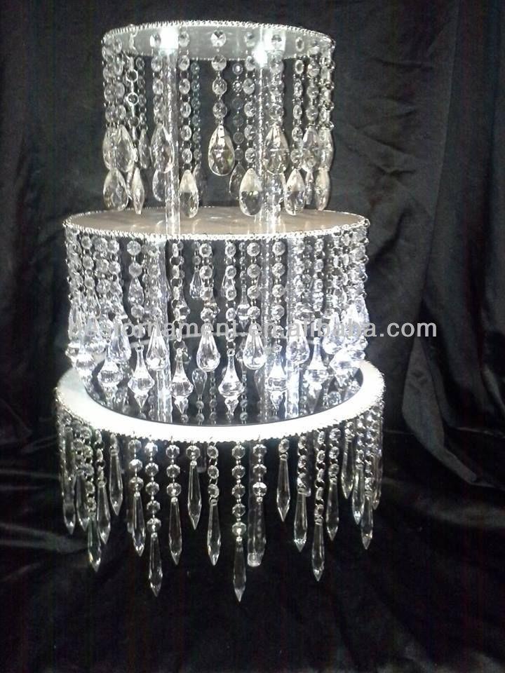 Acrylic Crystal Chandelier Wedding Cake Stand - Buy Wedding Cake ...