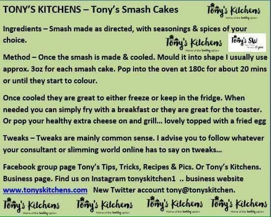 Tony's smash cakes