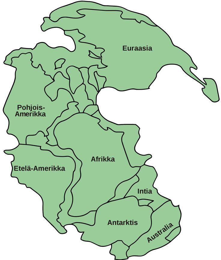 Pangea, mannerlaatat ennen liikettä