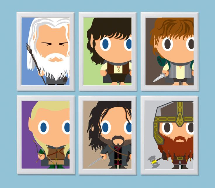 Baby Heroes - Baby Fellowship of the Ring from Lord of The Ring movie di TommiLab2015 su Etsy
