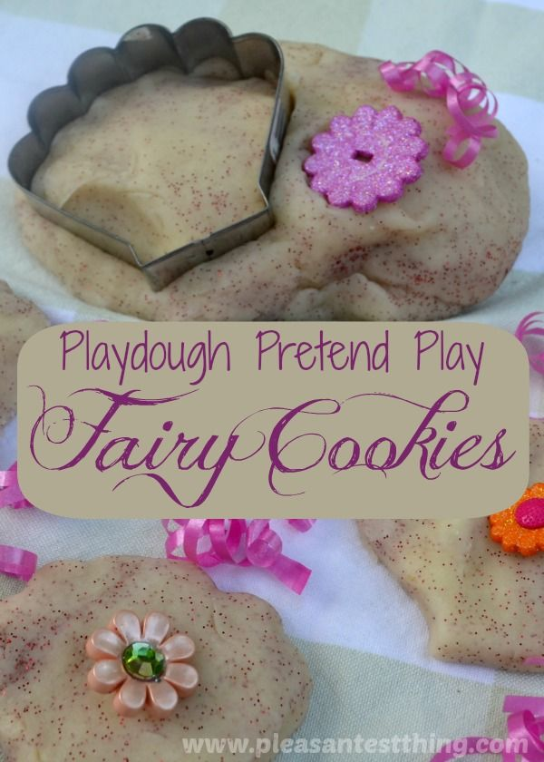 Make fairy cookies: playdough pretend play
