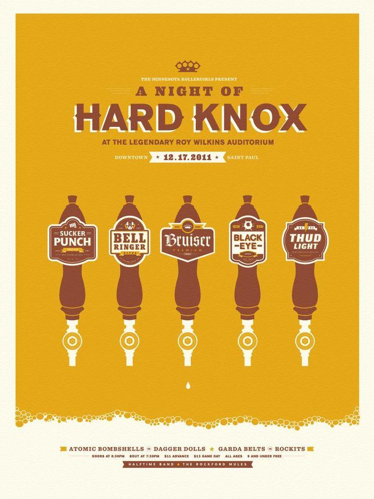 hard knox - creative band show poster