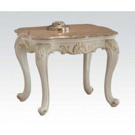 ACMEF83542-Marble Top End Table