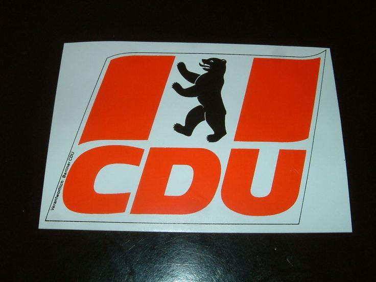 CDU - Partei - Berliner Bär mit CDU Logo - * Aufkleber *