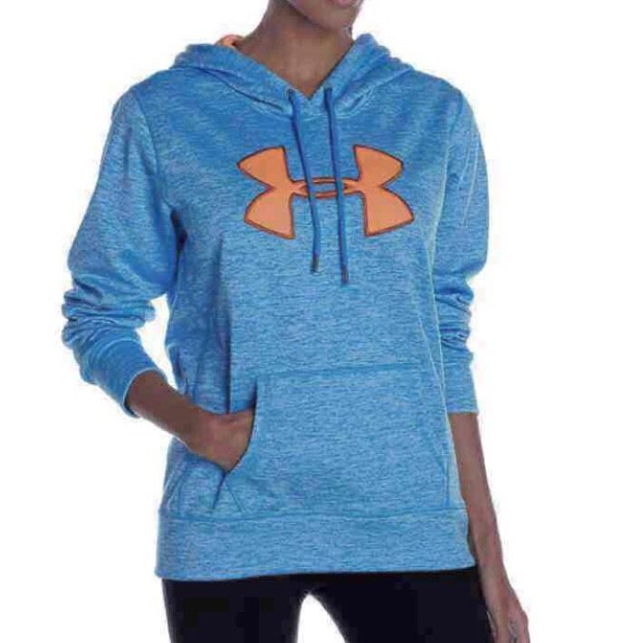 ⭐NEW⭐Under Armour Womens' Pullover Blue/Orange Hoodie, Large  | eBay