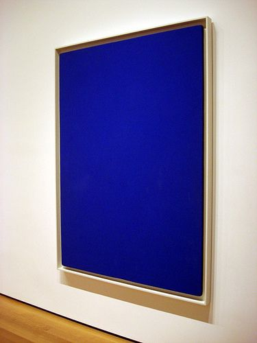 Q Ives Klien Cobalt Blue Painting I Don T Get It S A Square And He Invented The Color Ya Dope Yves Klein Pinterest