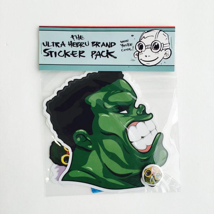 Image of (The Hulk) Ultimate Hebru Brand Sticker Pack