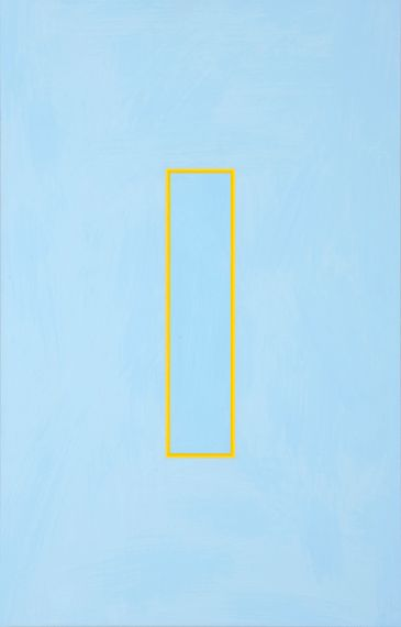 Beaux Arts Gallery - Luke Frost and Simon Allen   Luke Frost    Dairylide Yellow Volts   2014   Acrylic on Alumininum   27.5 x 18 inches (70 x 45 cm)