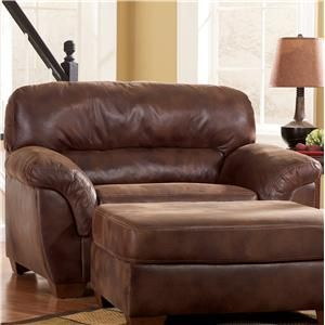 Ashley Furniture Frontier Canyon Upholstered Chair A Half With Padded Armrests Miskelly
