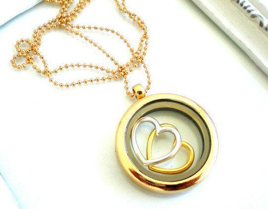 Kette Damen Medallion Herz goldwomans necklace love von JaquisaSchmuck auf Etsy