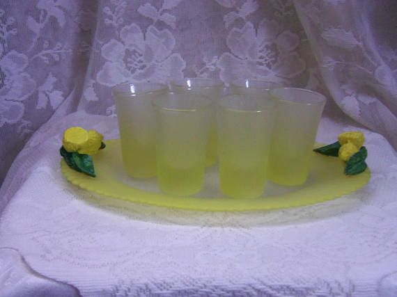 Pasabahce Turkish Shot Glass Set with Serving Tray Frosted