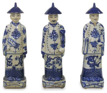 blue and white asian decor   Blue and White Qing Emperors asian accessories and decor