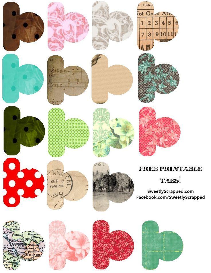 {Free♥} Printable tabs