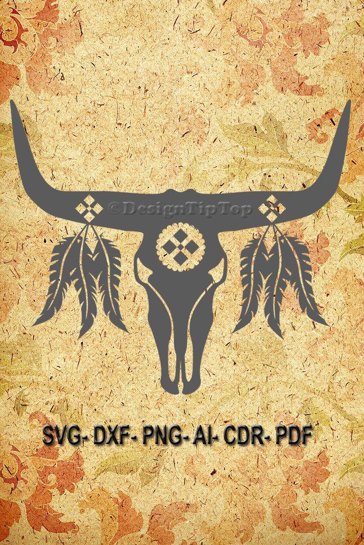 Bull skull svg, bull skull shirt, bull skull wall decor, skull svg ...
