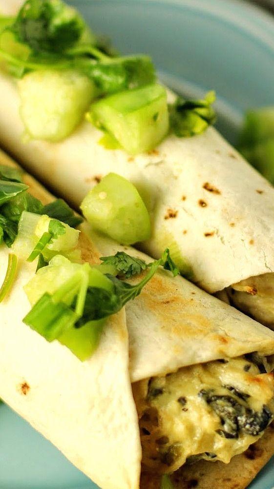 I Dig Pinterest: Knock Your Socks Off Chicken Enchiladas with Tomatillo Salsa