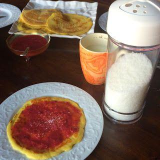 Pancake con salsa di lamponi