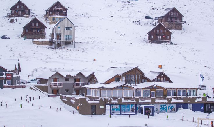 The lodges under a thick blanket of snow. #LoveLesotho www.afriski.net