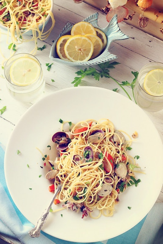 Spaghetti cu fructe de mare / Seafood spaghetti