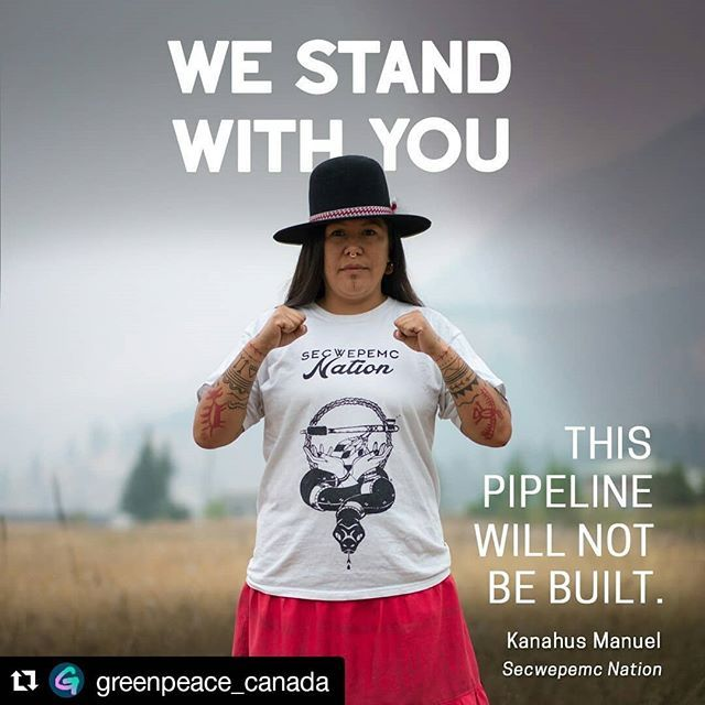 All around the world people are standing up to Big Oil! #peoplevsoil  #Repost @greenpeace_canada  A new wave of resistance against the Kinder Morgan pipeline is rising up in British Columbia. Today thousandsof supporters join members of Tsleil-Waututh Nation and Indigenous leaders from across North America on unceded Coast Salish Territory (Vancouver) to make their voices heard. If built Kinder Morgans pipeline would threaten the land water communities and climate. We cant let this happen…
