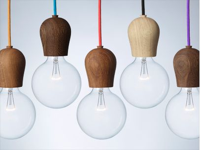 Bright Sprout Is A Wooden Fixture Designed By Danish Jonas Hoejgaard For  Nordic Tales To Hide The Light Bulb Sockets On Energy Saving Bulbs.
