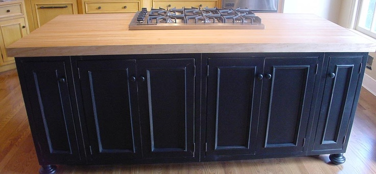 Kitchen Islands With Slots For Skillets