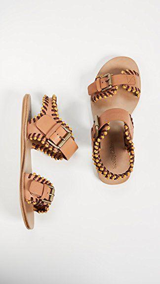 63238bb944275 Amazon.com  See by Chloé Women s Romy Flat Sandals