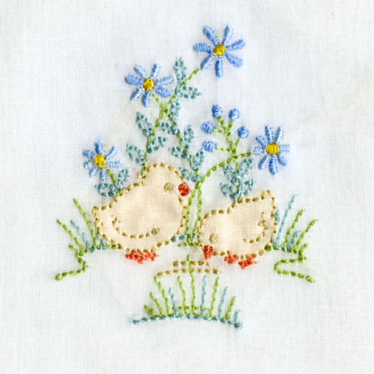 Fabric Applique Shadow-Work: Chick Designs - Sew Beautiful Mag #2 Free  both in one file