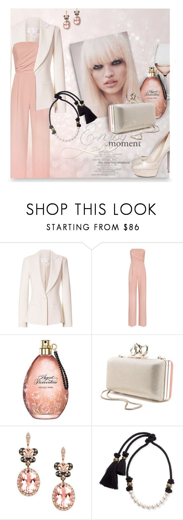 """Light tender"" by kseniz13 ❤ liked on Polyvore featuring Cushnie Et Ochs, Reiss, Agent Provocateur, Diane Von Furstenberg, Effy Jewelry, Lanvin, Sergio Rossi, outfit, Elegance and jumpsuit"