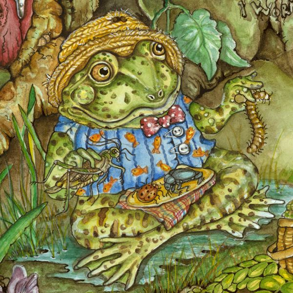 Care for lunch? Book Illustration by Jeri Landers