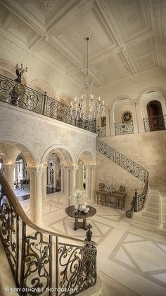 This is also an example of a grand and breath taking entryway.  It is more beautiful and would suit the house and Gatsby's character better.