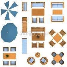 furniture plan view google search - Garden Furniture Top View Psd