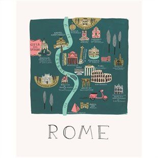 Rome Map Print by #riflepaperco #IndigoHome