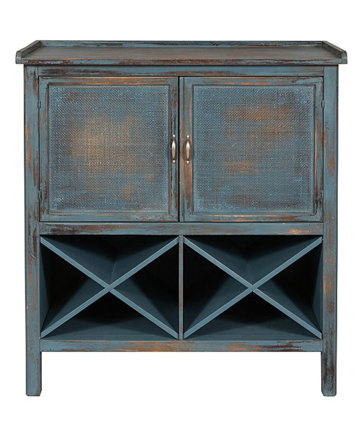 Look what I found on #zulily! Blue Wine Rack Sideboard Cabinet by Sarreid Ltd. #zulilyfinds