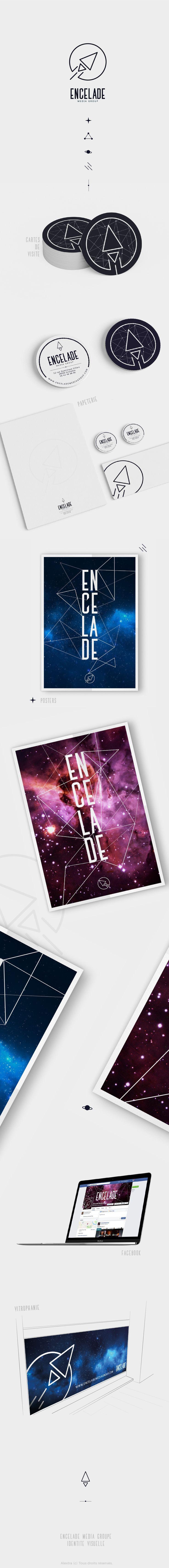 Encelade Media Group | Alextra Visual Identity - Graphisme - Designer - Design - Infographie - identité visuelle - Logo - Logotype - Galaxy - Planète - Cosmos - Fusée
