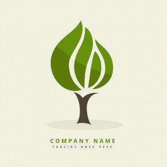 Logo avec arbre abstrait