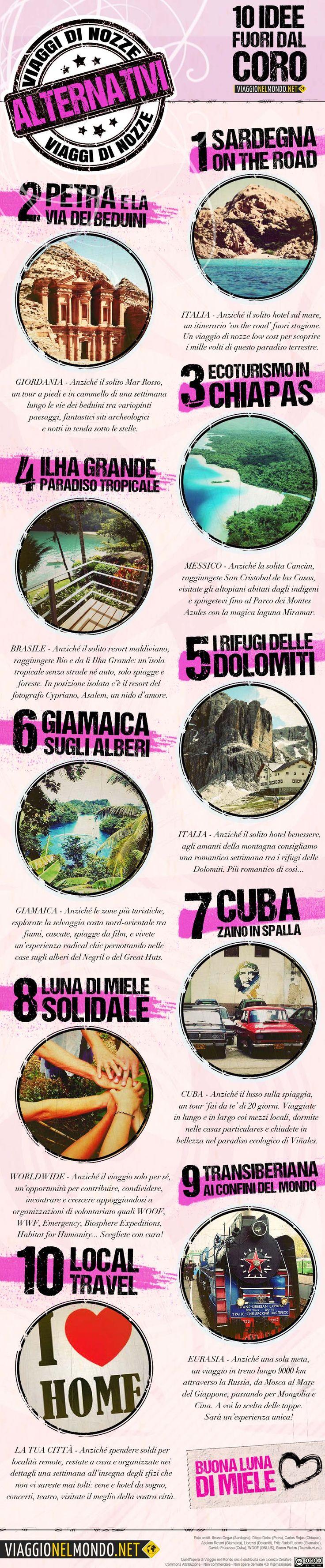 #Infografica: #viaggi di #nozze #alternativi | Viaggio nel Mondo