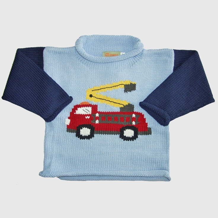 Abigail's Children's Boutique :: Casual Wear :: Boys 2-4T :: Toddler Boys Sweaters :: Toddler, Boys Firetruck Sweaters from Claver (2T-6) $62 - $66