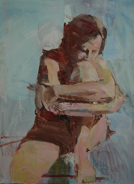 Seated Figure No. 1 | Mark Horst | Painting | Oil on Panel | #painting #art #oil | ✅