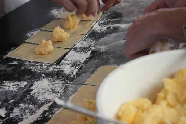 """Doughball recipe nets grand prize in IKEA holiday contest & category """"Wintertime Favorites – Cool Weather & Comfort Food Dishes."""" Filling: 5lg potatoes, cooked, mashed w/ 8oz grated cheddar; Dough: 2.25c flour, 1/3c potato water, 2 eggs, 1T oil, 1t salt."""