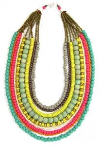 Folksy Bead Necklace-Tropicale