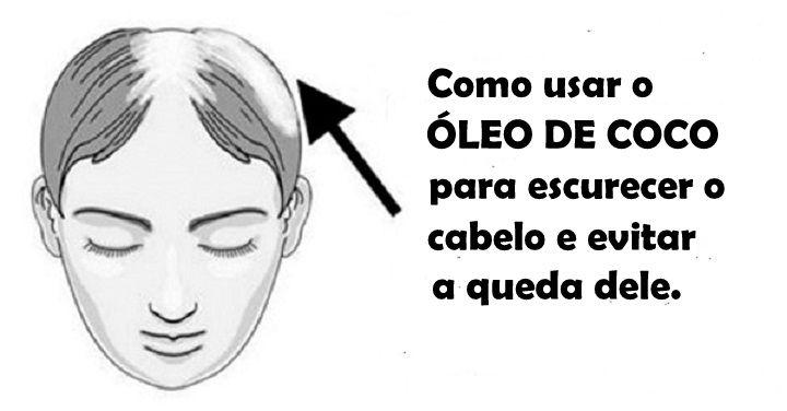 Como usar o óleo de coco para escurecer o cabelo e evitar a queda dele | Cura pela Natureza
