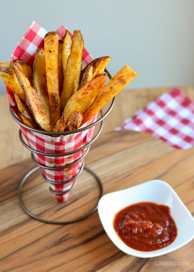 Slimming Eats Spicy Potato Wedges - gluten free, dairy free, vegetarian, paleo, Whole30, Slimming World and Weight Watchers friendly